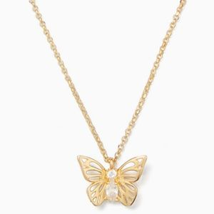 ★ New Kate Spade Gold Social Butterfly Necklace